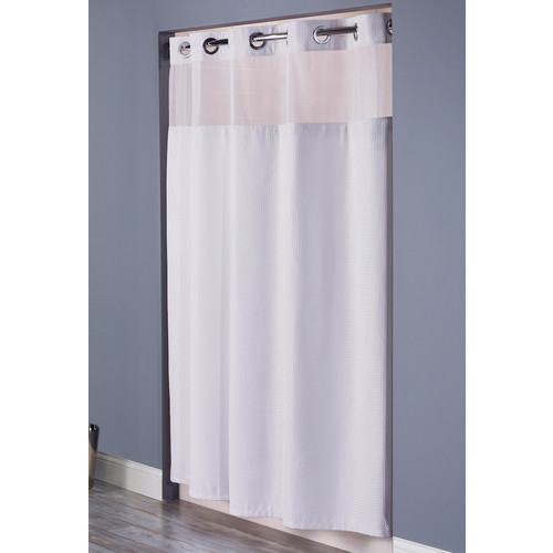 hookless waffle weave shower curtain 71 x 74 white