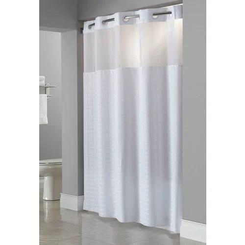 hookless madison windowed shower curtain white 71 x 77