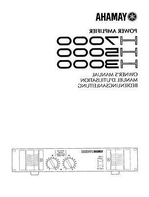 Yamaha H-5000 Amplifier Owners Manual