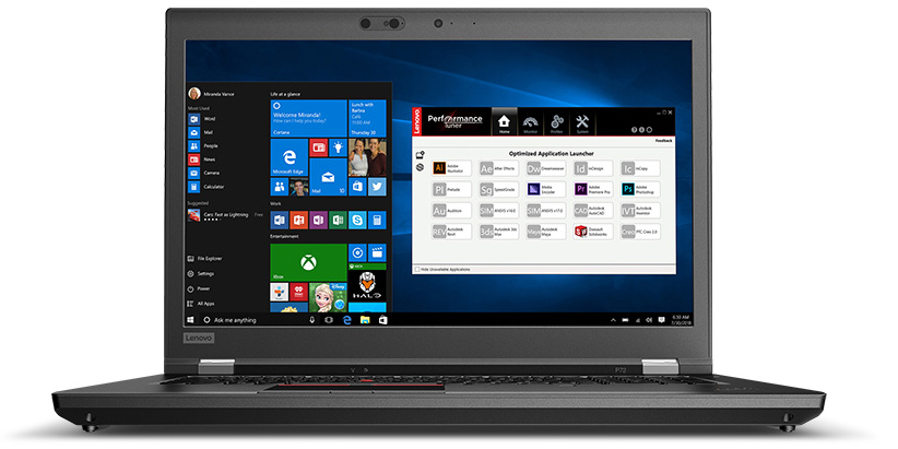 Lenovo's Unveils ThinkPad P72 Workstations: Thinner DTR with Intel Hex-Core CPUs