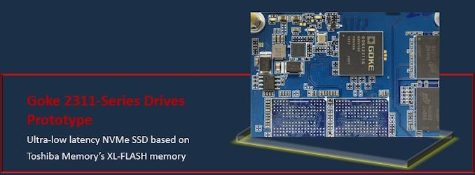 Goke Unveils Toshiba XL-Flash-Based NVMe SSDs: Ultra-Low Latency