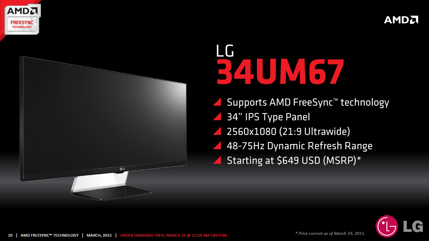 FreeSync Displays And Pricing The AMD FreeSync Review
