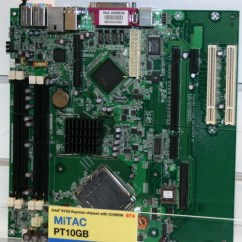 Pico Btx Motherboard Diagram Standard Wiring For Trailer Plugs Motherboards From Asus And Mitac Computex 2004 At The Show Much Like Board S Pt10gb Has A Small Connector End Of Pci Express X16 Slot That Particular Is Another X1