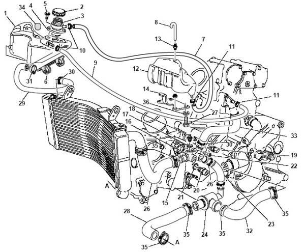 Ducati Complete Coolant Header Tank Cap