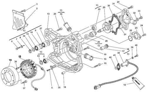 Ducati 3 Phase 3 Yellow Wires Alternator Generator Stator