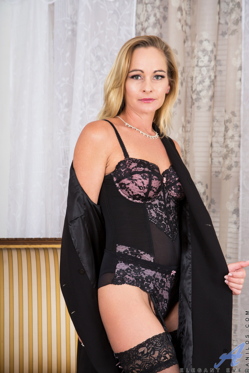 Anilos.com - Elegant Eve: Black Lingerie