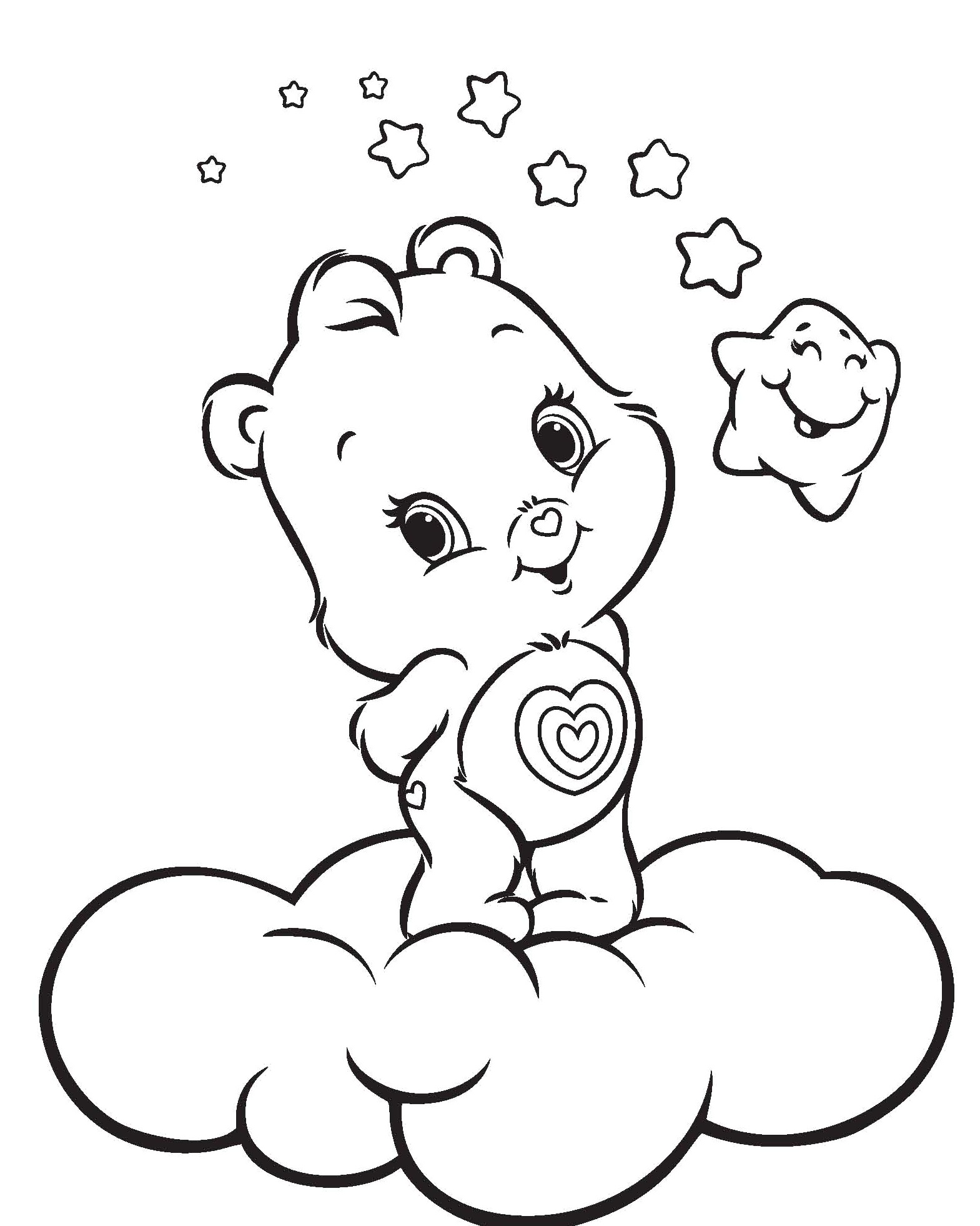Braveheart Lion Care Bear Coloring Page Sketch Coloring Page
