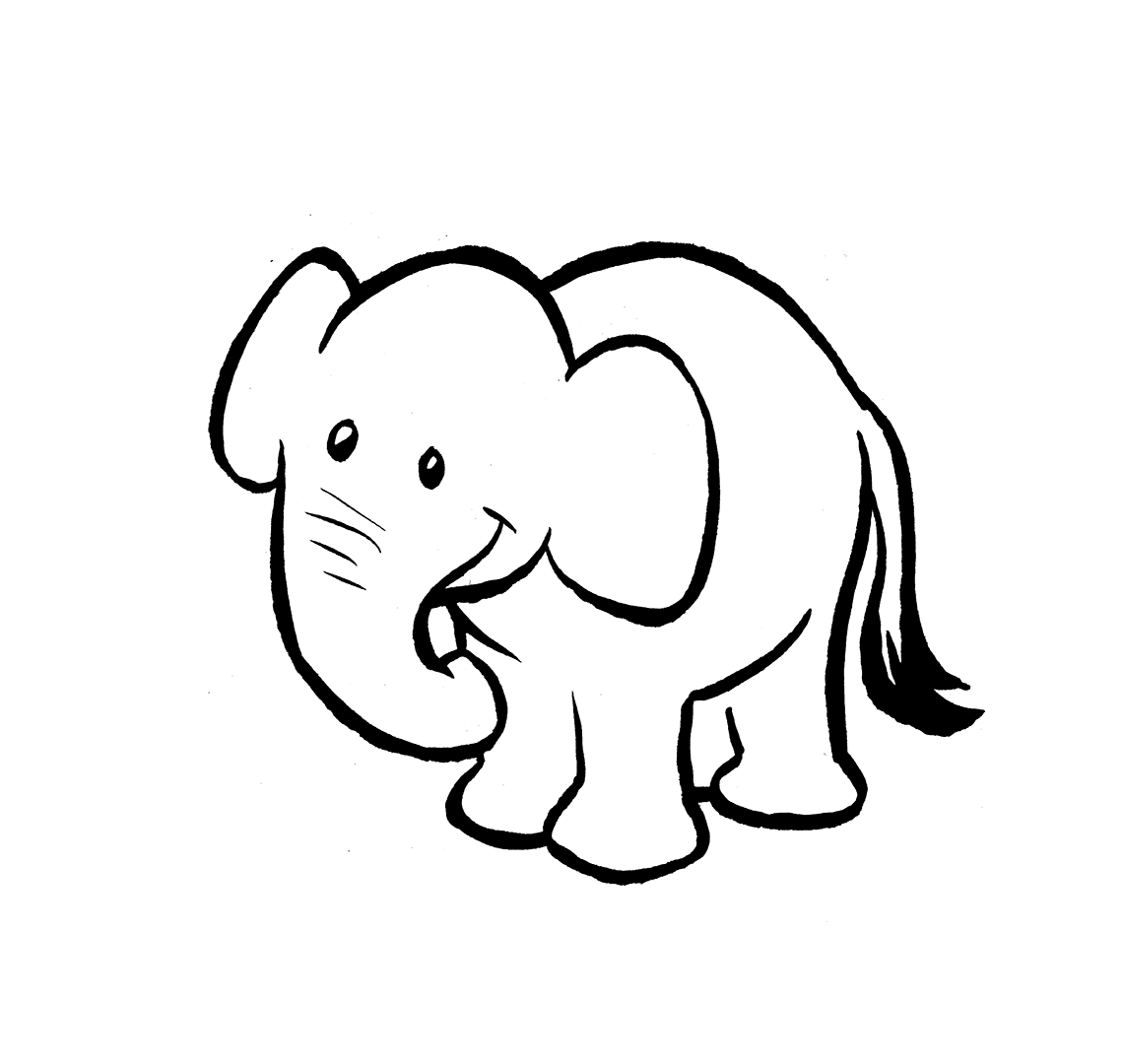 Black And White Baby Elephant Pictures To Print