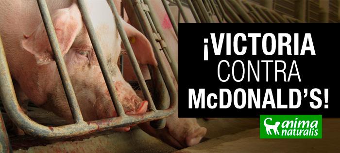 ¡Victoria contra McDonald's!