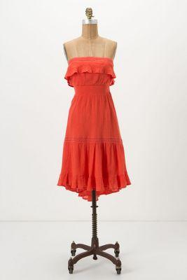 Orange Sun Dress Anthropologie
