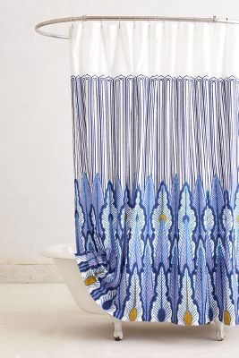Peacock quills shower curtain anthropologie com