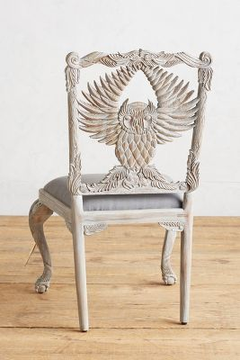 Handcarved Menagerie Owl Dining Chair  Anthropologie