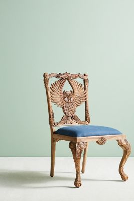 graco blue owl high chair wicker dining handcarved menagerie anthropologie