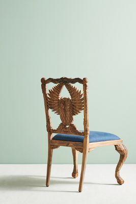 graco blue owl high chair wood and metal chairs handcarved menagerie dining anthropologie
