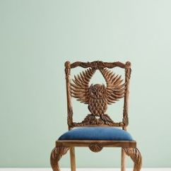Graco Blue Owl High Chair Fred Meyer Folding Chairs Handcarved Menagerie Dining Anthropologie