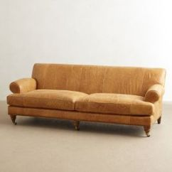 Anthropologie Sofa Tuxedo Sectional Leather Willoughby