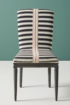striped dining chair funky room chairs grassland stripe anthropologie