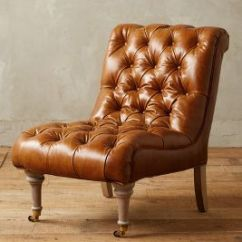Leather Slipper Chair Chocolate 2 Chairs And Table Orianna Anthropologie