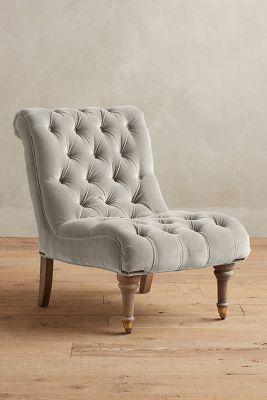 grey velvet slipper chair orange covers orianna anthropologie