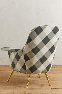 buffalo plaid chair posture comfort den-tal-ez check kimball anthropologie