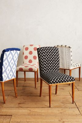 Upholstered Kitchen Chairs Elza Ikat Dining Chair Anthropologie