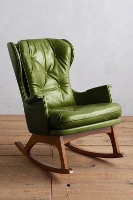Premium Leather Finn Rocking Chair | Anthropologie