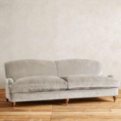 Petite Belgian Track Arm Slipcovered Sofa Slipcovers Teal Slub Velvet Glenlee Landon Anthropologie
