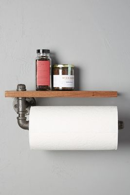 Black Walnut Paper Towel Holder Anthropologie