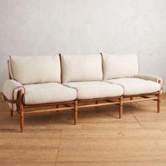 Belgian Linen Sofa Dual Reclining With Massage Rhys Anthropologie