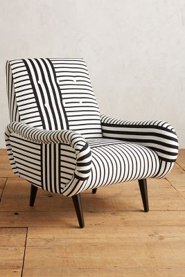 Black And White Striped Chair Striped Losange Chair Anthropologie