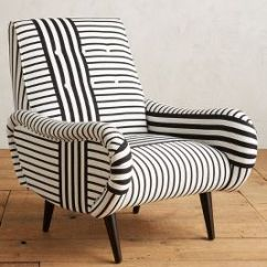 Black White Striped Chair Eames Plastic Losange Anthropologie