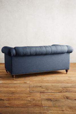 belgian linen sofa antonio leather corner lyre chesterfield petite hickory