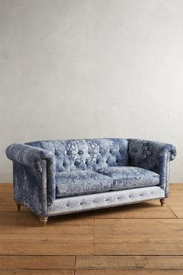 anthropologie sofa axis ii slipcovered twin sleeper blue sofas thesofa