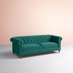 Cheap Teal Sofas Tary Guidelines Lyre Chesterfield Two Cushion Sofa Anthropologie