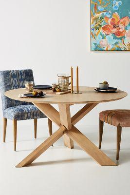 unique kitchen tables top corner cabinet dining anthropologie devon round table