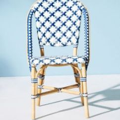 Blue Bistro Chairs Indoor Swingasan Chair Woven Outdoor Dining Anthropologie Slide View 1
