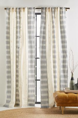black and beige living room curtains grey white chairs drapes anthropologie tasseled moira curtain