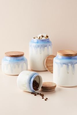 kitchen canister tall island size small canisters containers anthropologie adley reactive