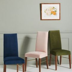 Blue Kitchen Chairs Paint Cabinets White Dining Room Stools Anthropologie Velvet Vanessa Chair