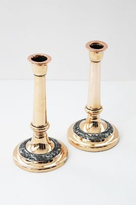 kitchen candles lowes trash cans coppermill candle gifts accessories english candlesticks set of 2