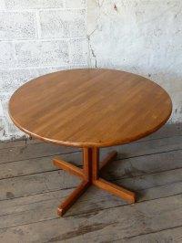 Antiques Atlas - Danish Teak Round Dining Kitchen Table 4 ...