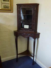 Antique Corner Display Cabinet. - Antiques Atlas