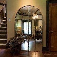 Antiques Atlas - Factory Tall Arch Cast Iron Window Mirror