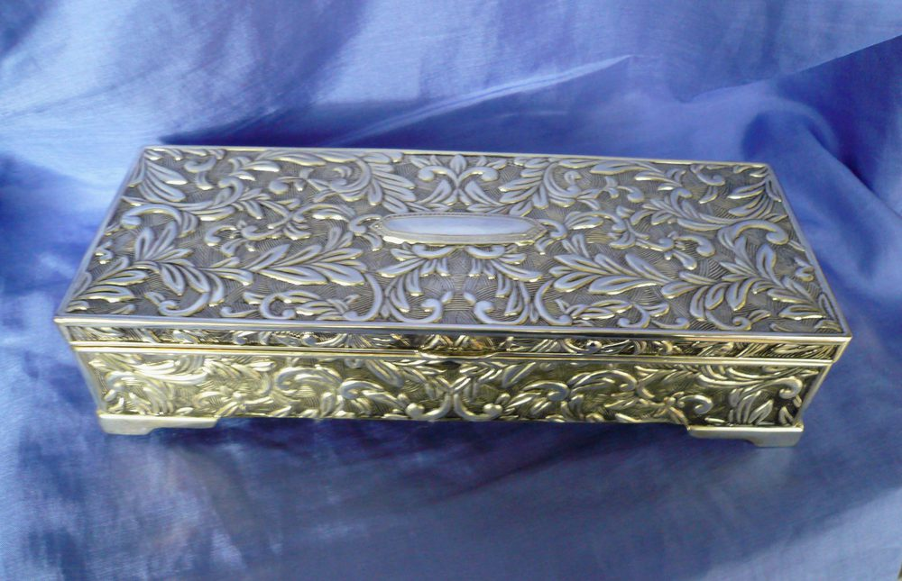 Antiques Atlas  Silver Plated Jewellery Box