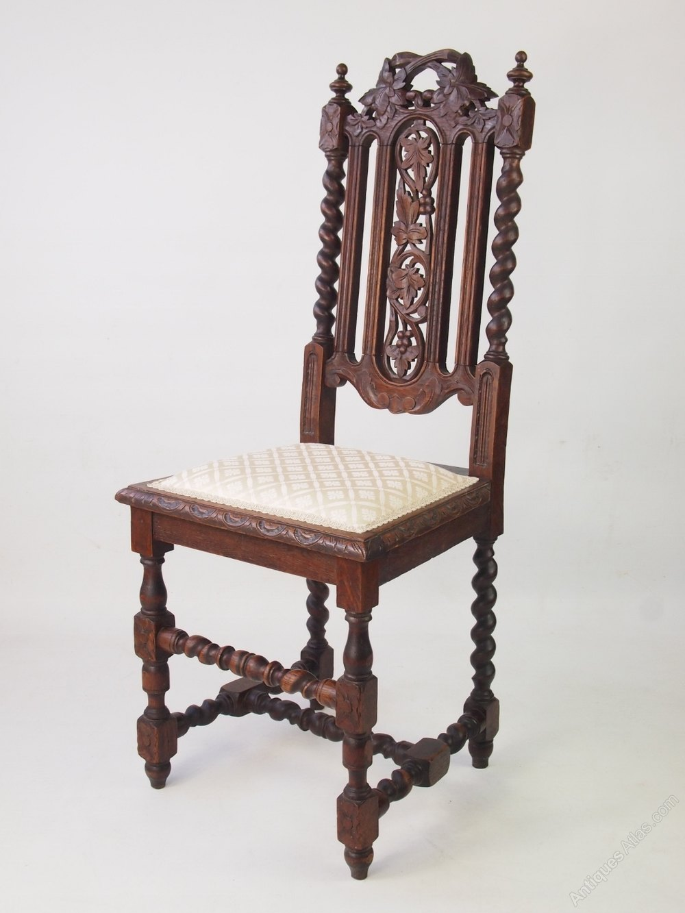 barley twist chair tables tents and rental antique victorian gothic revival oak - antiques atlas