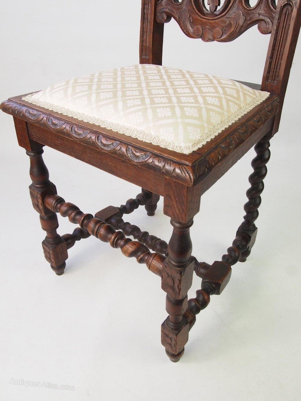 Antique Victorian Gothic Revival Oak Chair  Antiques Atlas