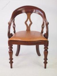 Antique Victorian Mahogany Desk Chair - Antiques Atlas