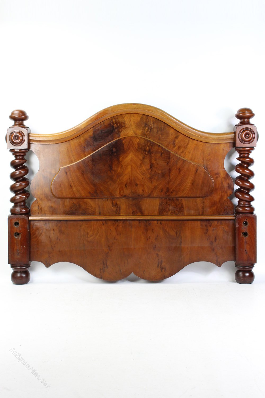 Antique Victorian Mahogany Double Bed Headboard Antiques Atlas