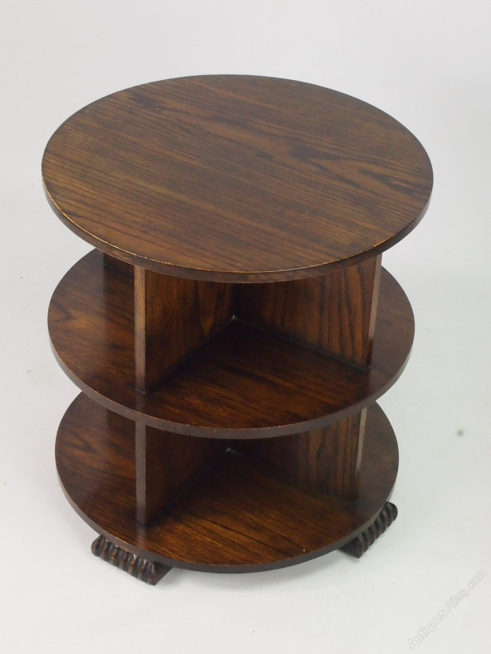 Art Deco Oak Book Table Or Coffee Table