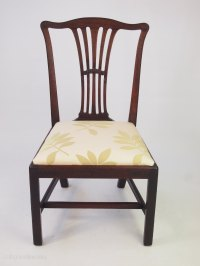 Georgian Mahogany Desk Chair Or Dining Chair - Antiques Atlas
